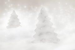 Dos árboles de navidad Imágenes de archivo libres de regalías