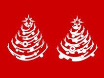 Dos árboles de navidad Fotografía de archivo libre de regalías