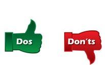 DOS και donts στοκ φωτογραφία