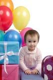 Dos años de la celebración del feliz cumpleaños Imágenes de archivo libres de regalías