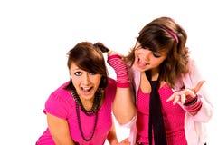 Dos adolescencias de las muchachas juran Imagen de archivo libre de regalías