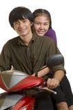 Dos adolescencias en amor Fotografía de archivo libre de regalías