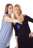 Dos adolescentes de la risa Imagen de archivo