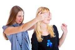 Dos adolescentes de la risa Foto de archivo libre de regalías