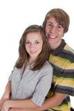 Dos adolescentes en amor Fotografía de archivo