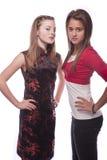 Dos adolescentes jovenes hermosos Imagen de archivo