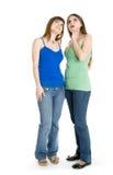 Dos adolescentes que miran para arriba Fotografía de archivo libre de regalías