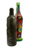 Dos adornaron las botellas Foto de archivo