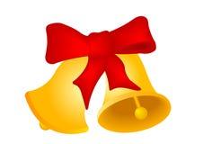 Dos alarmas de mano de la Navidad Fotos de archivo libres de regalías