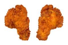 Dos alas de pollo del búfalo Imagen de archivo