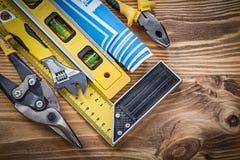 Dos alicates nivelados do quadrado de tentativa do modelo da construção adju de aço do cortador Fotos de Stock Royalty Free