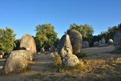 DOS Almendres, Portogallo di Cromeleque Fotografia Stock