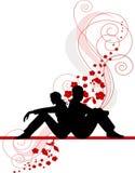 Dos amantes Stock de ilustración