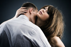 Dos amantes jovenes Imagen de archivo libre de regalías