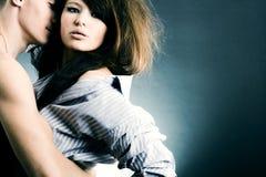 Dos amantes jovenes Foto de archivo