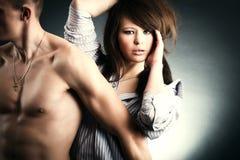 Dos amantes jovenes Fotografía de archivo