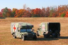 Dos ambulancias Foto de archivo libre de regalías