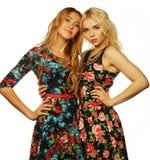 Dos amigos de chica joven que se unen y que se divierten Foto de archivo libre de regalías