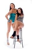 Dos amigos de las chicas jóvenes Fotografía de archivo libre de regalías