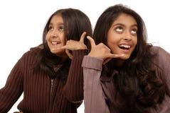 Dos amigos de muchacha Imagenes de archivo