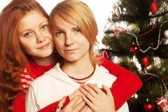 Dos amigos de muchacha. Imagenes de archivo