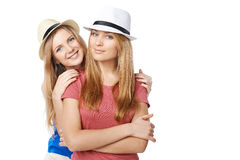 Dos amigos de muchachas Imágenes de archivo libres de regalías