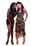 Dos amigos del afroamericano Foto de archivo libre de regalías