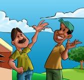 Dos amigos felices libre illustration