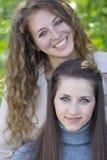 Dos amigos felices Imagenes de archivo