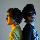 Dos amigos jovenes Imagen de archivo