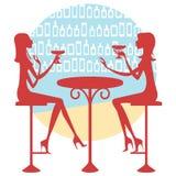 Amigos que tienen una bebida Libre Illustration