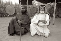 Dos ancianos árabes Foto de archivo