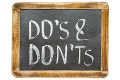 Dos And Donts Fr Stock Image