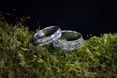 Dos anillos de bodas Imagen de archivo