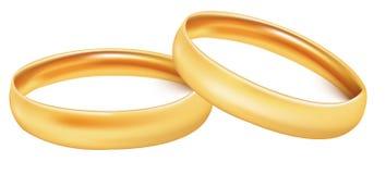 Dos anillos de bodas del oro. Fotografía de archivo libre de regalías