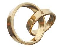 Dos anillos de oro Fotografía de archivo
