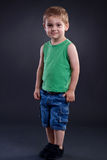 Dos años de situación del muchacho Foto de archivo libre de regalías