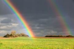 Dos arco iris foto de archivo