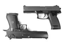 Dos armas de mano Fotos de archivo
