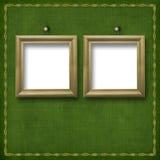 Dos armazones de madera para el retrato Imágenes de archivo libres de regalías