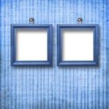 Dos armazones de madera para el retrato Imagen de archivo libre de regalías