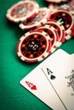 Dos as y microprocesadores del casino foto de archivo