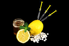 Dos av vitaminer royaltyfria foton
