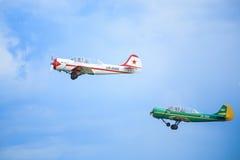 Dos aviones del deporte foto de archivo libre de regalías