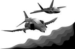dos aviones militares Imagenes de archivo