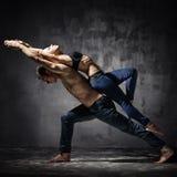 Dos bailarines Fotografía de archivo libre de regalías
