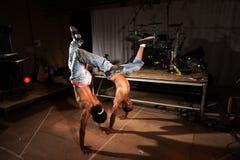 Dos bailarines de hip-hop Fotografía de archivo