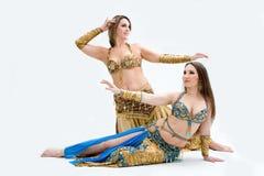 Dos bailarines de vientre hermosos Fotografía de archivo
