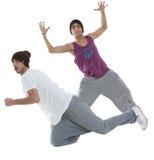 Dos bailarines del salto de la cadera Foto de archivo libre de regalías