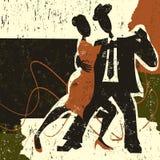 Dos bailarines del tango Imagenes de archivo